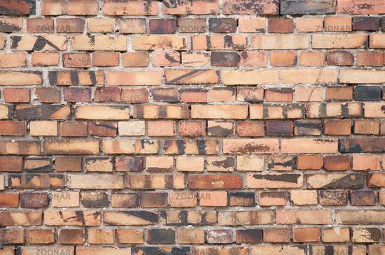 backsteinmauer alte tapete