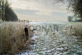 Eingang zur Weide im Winter