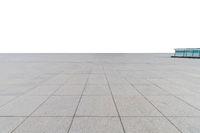 empty concrete square floor isolated