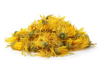 Heap of  dried calendula flowers
