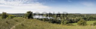 Blick über einen See, Brandenburg, Deutschland