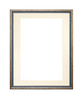 Golden picture or photo frame with cardboard mat