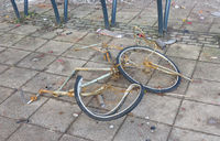 Broken bicycle in the dutch streets