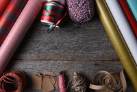 Present Wrapping Supplies with Copy Space
