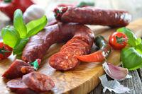 Spanische Chorizo-Paprikasalami