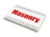 Construction concept: newspaper headline Masonry