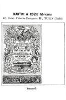 Historisches Warenzeichen für Martini  Rossi Wermut aus dem Jahr 1896