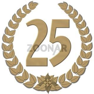 Lorbeerkranz Bronze mit Zahl