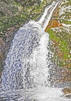 Nahaufnahme von den Allerheiligen Wasserfaellen im Schwarzwald