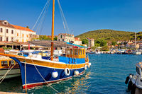 Colorful harbor of Zlarin island