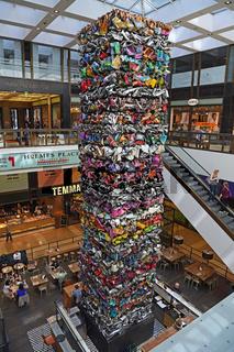Lichthof der Nobelpassage 'The Q' mit Kunstwerk 'Der Turm von Kl