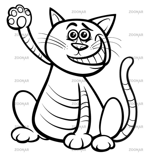 cat or kitten animal character coloring book
