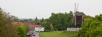 Windmill on the hill in Bruges, panorama
