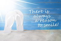 Sunny Summer Background, Quote Always Reason To Smile