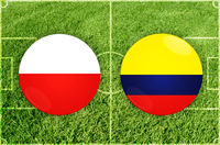 Poland vs Colombia football match