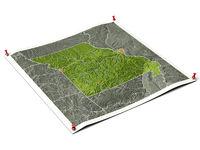 Missouri on unfolded map sheet.