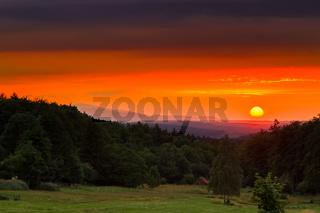 Sonnenuntergang Harzlandschaft Mythenharz