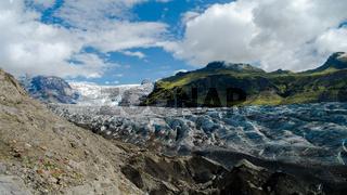 Svinafelljokull glacier , Skaftafell national park