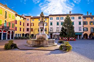 Town of Cividale del Friuli colorful Italian square view