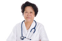 Professional Asian female medical doctor
