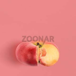 Flat saturn peach background