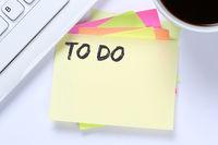 To Do To-Do-Liste Zettel Checkliste Liste Business Schreibtisch