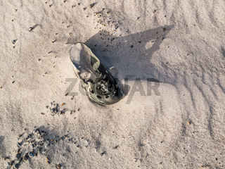 Wreckage. Shoes that are forgotten