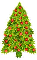 Christmas  Holly fir tree