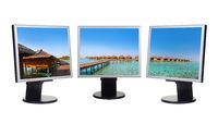 Maldives panorama in computer monitors