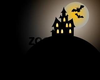 Hintergrund mit Halloween Szene
