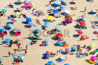 Aerial view of beach. Background