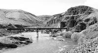 Deep Gorge Deschutes River Railroad Bridge Wild Scenic Corridor Oregon