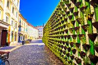 Green eco wall in Ljubljana city center