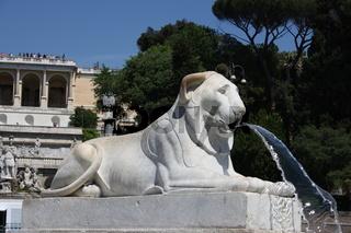 Rom, Löwenbrunnen an der Piazza del Popolo