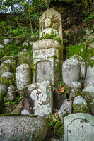 Chion-in temple garden graveyard, Kyoto, Japan