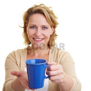 Kaffee anbieten