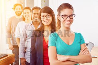 Startup Business Studenten als Gruppe