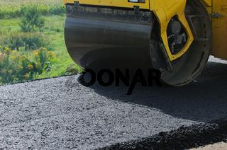 Straßenbau-Walze