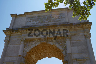 The Triumphal Arch of Titus in Rome Italy