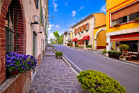 Colorful village of Spiazzi street view