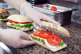 Sandwiches preparation