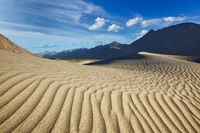 Sand dunes in mountains