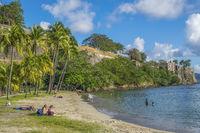 Beach By The Harbour, Fort de France, Martinique, West Indies