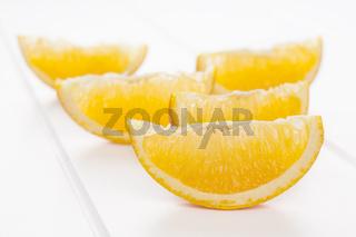 Orange Wedges on White Background