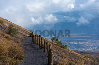 trail on a mountainside