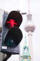 Red walking man (Ampelmann) in Berlin