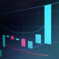 Stock market japan candle graph
