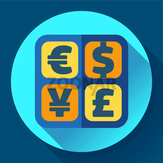 Currency exchange sign icon and converter symbol. Money label.