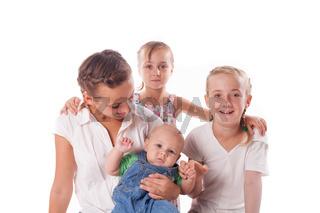 Portrait of family kids