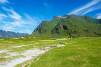 Utakleiv Beach auf den Lofoten in Norwegen